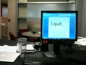 I quit - office computer