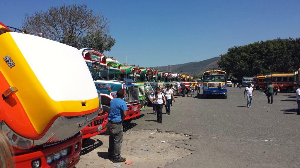 Busses in Antigua Guatemala