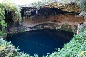 Cenote Zaci in Valladolid often cited as one of the best cenotes in the Yucatan