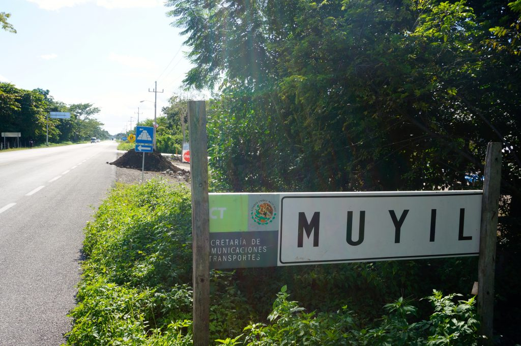 Signs to Muyil Ruins