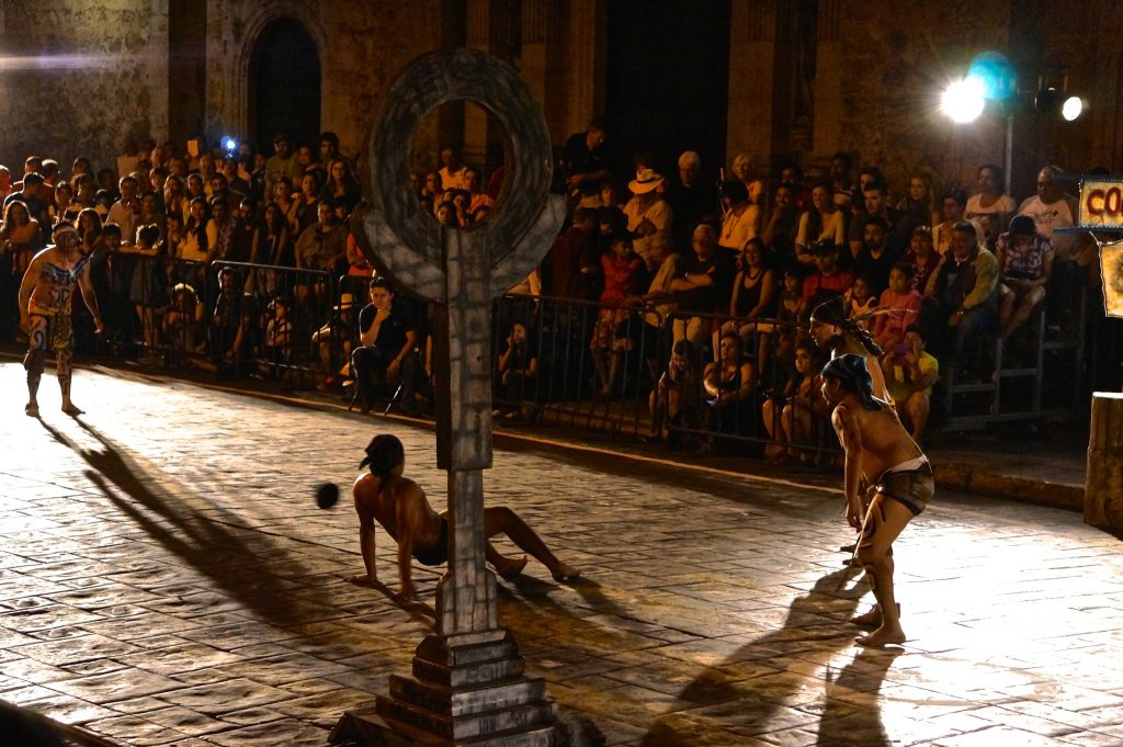 Pok Ta Pok: Representation of the Mayan Ball Game occurs every Friday night at 8:00, one of the popular things to do in Merida at night