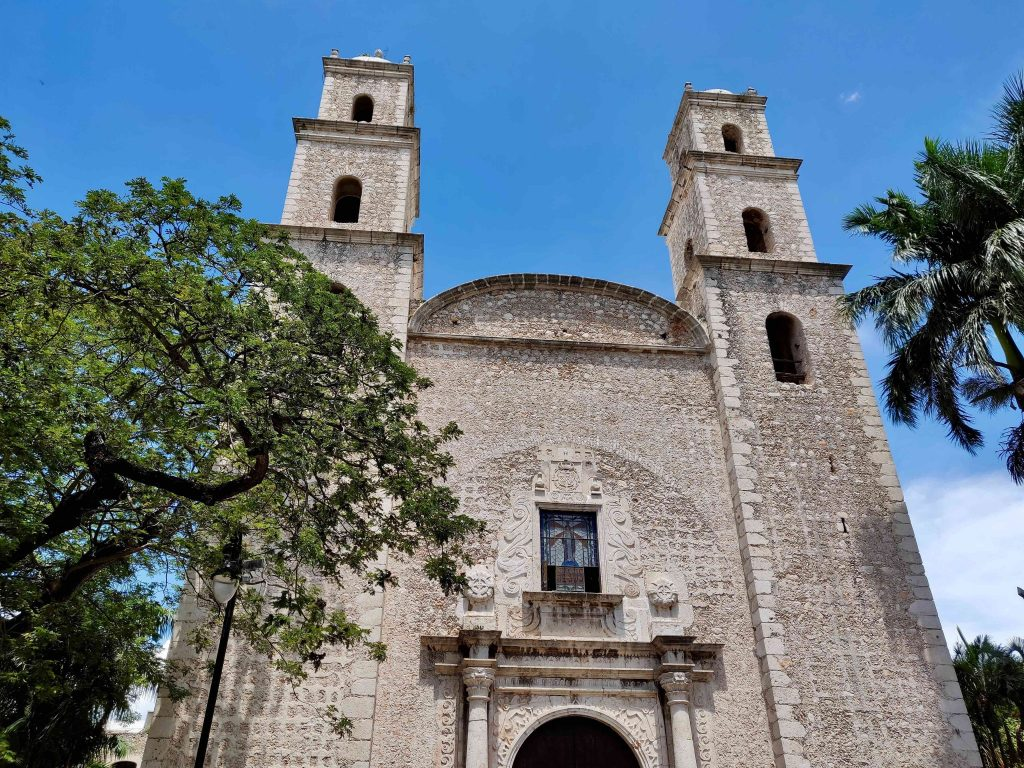 Iglesia El Jesus is a church in Merida Mexico constructed from Mayan ruins