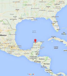 Map of Merida Yucatan Mexico