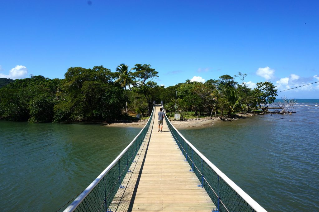 Swing bridge Livingston Guatemala