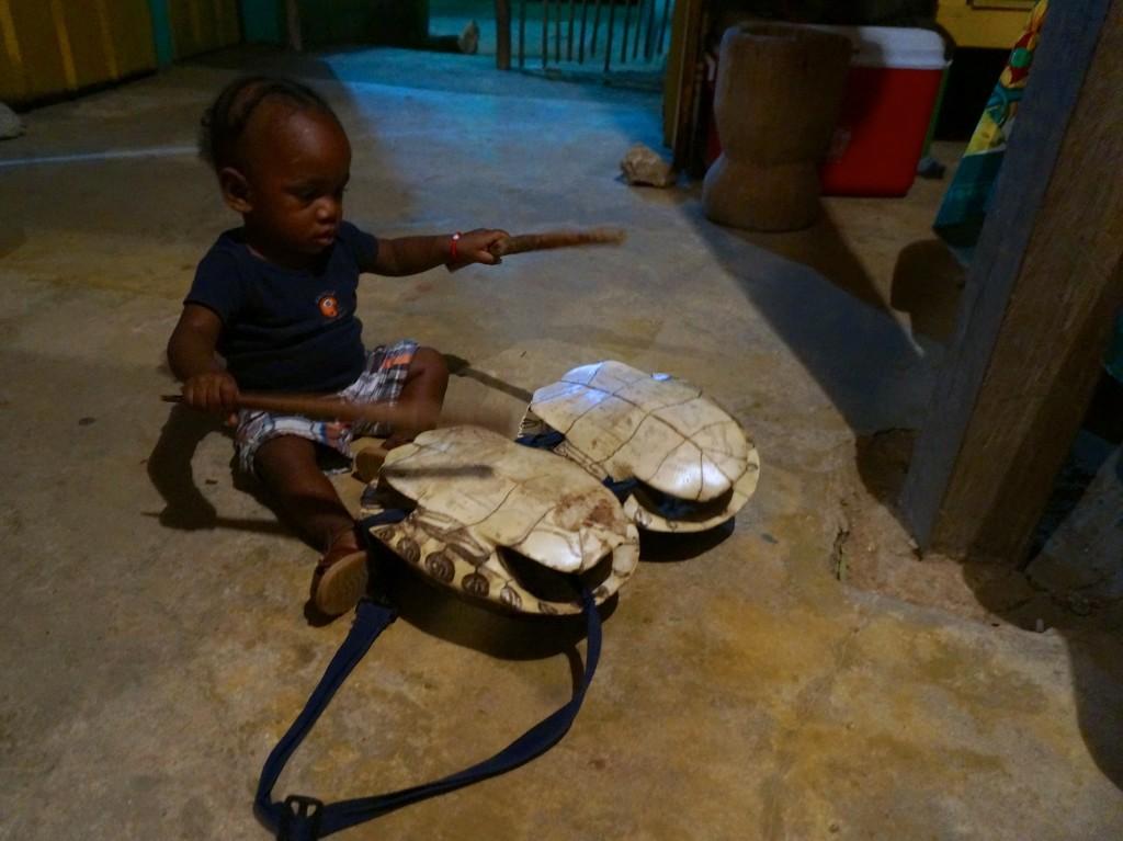 Garafuni baby drumming