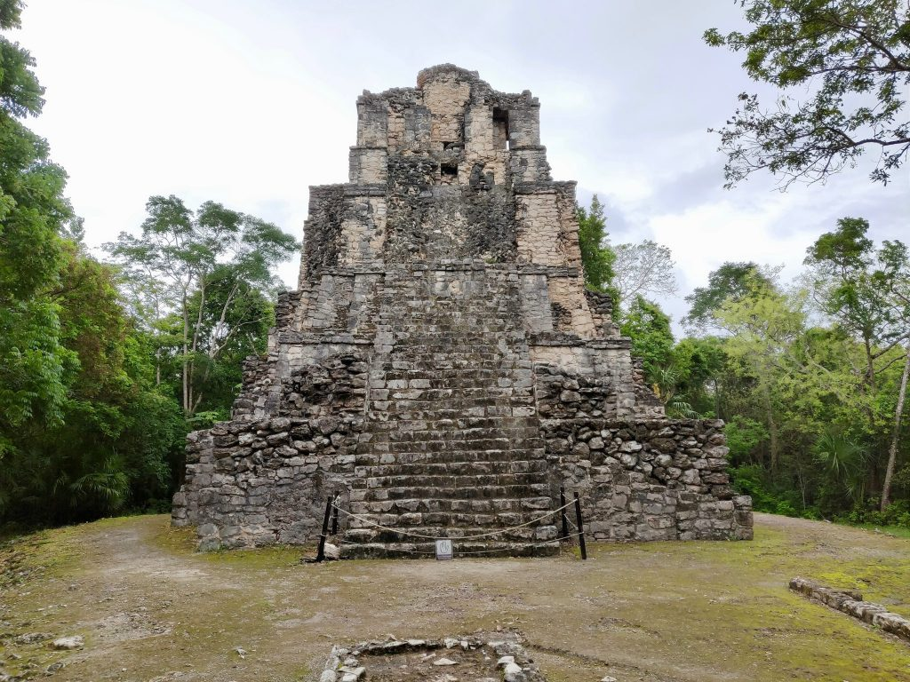 El Castillo (Castle) is Structure 81-3 of the ancient Mayan settlement of Muyil in Sian Ka'an Biosphere Reserve