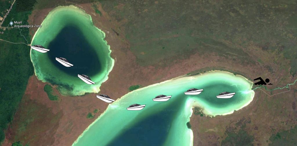 Sian Ka'an Lagoon Boat Tour map