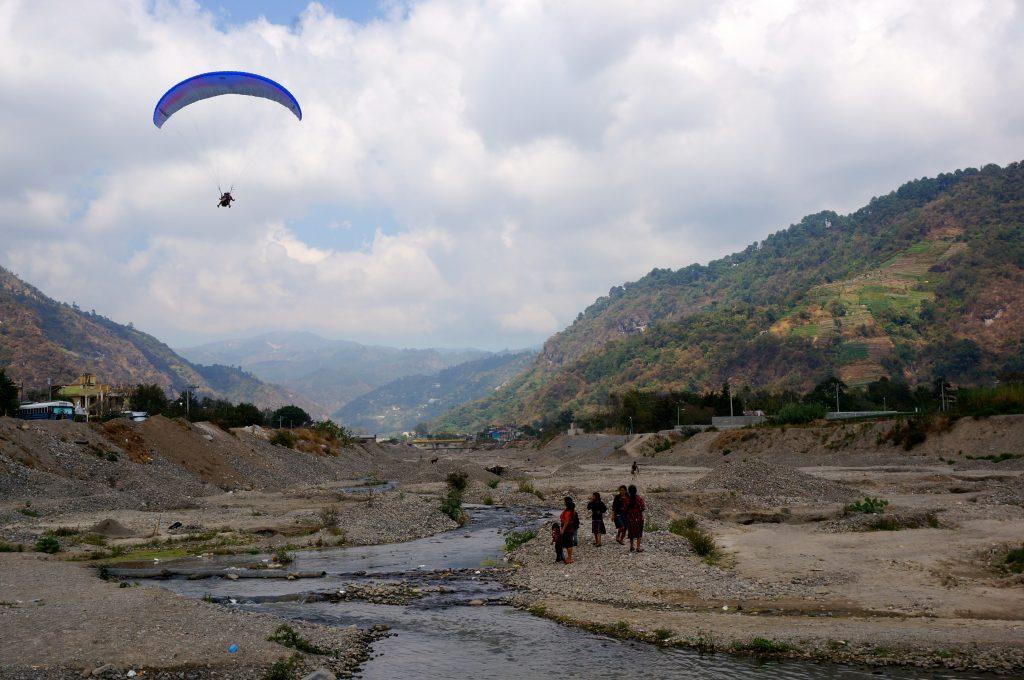 Paragliding Lake Atitlan safe landing in Panajachel Guatemala
