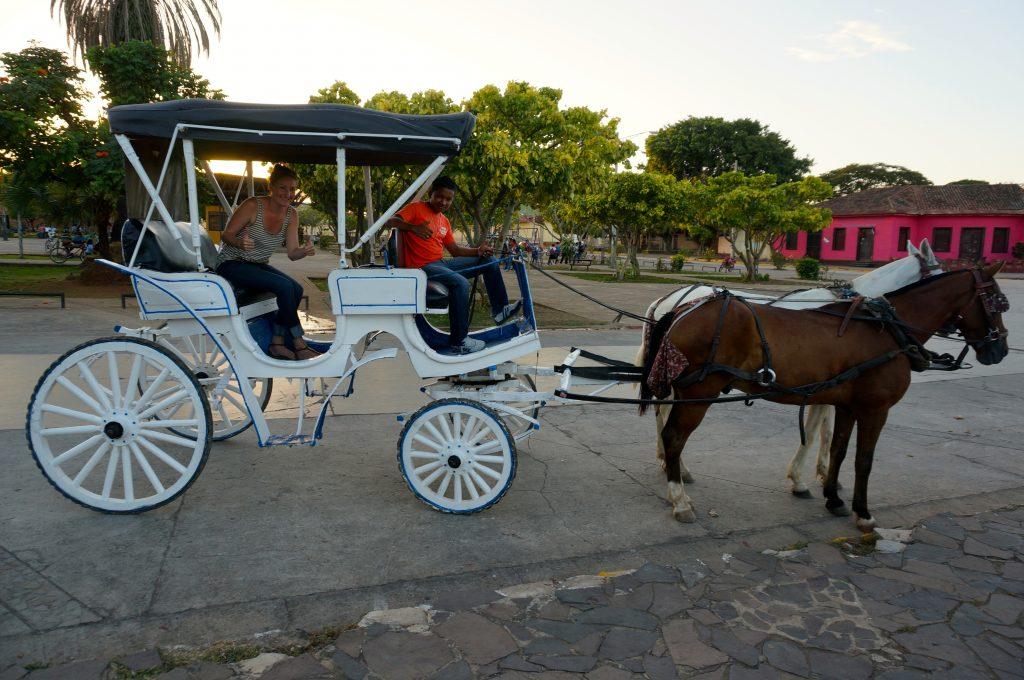 horse-drawn carriage ride through Granada Nicaragua