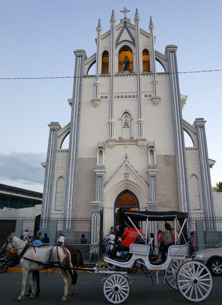 horse & carriage tour at a church in Granada Nicaragua