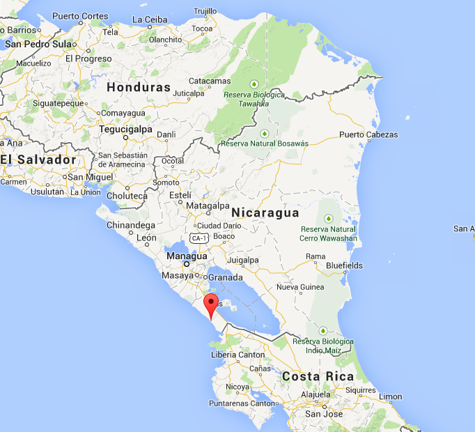 Surfing Around San Juan Del Sur Nicaragua - Nicaragua map honduras