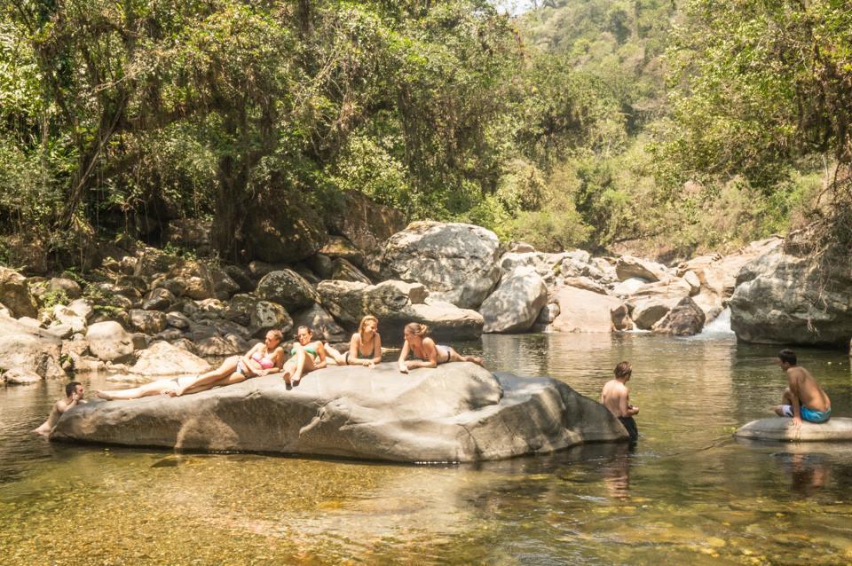 swimming hole Ciudad Perdida trek