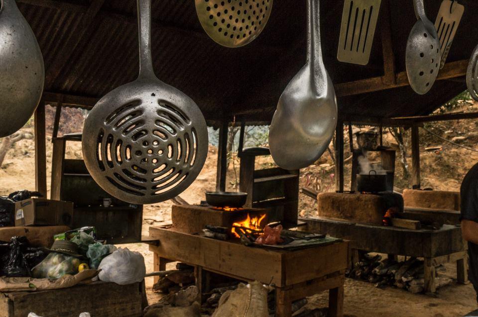 Kitchen - cooking dinner at camp of Ciudad Perdida trek