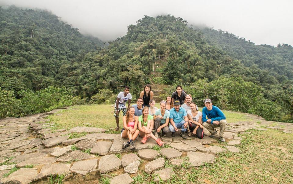 Group shot at Ciudad Perdida Colombia