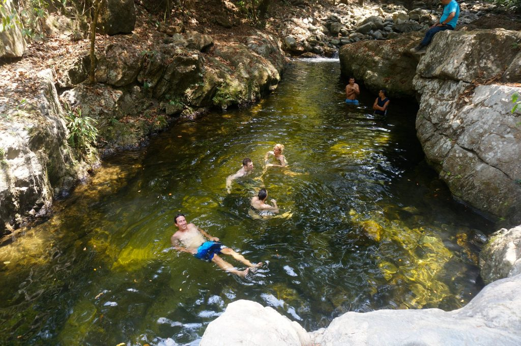 swimming hole during ciudad perdida hike Colombia