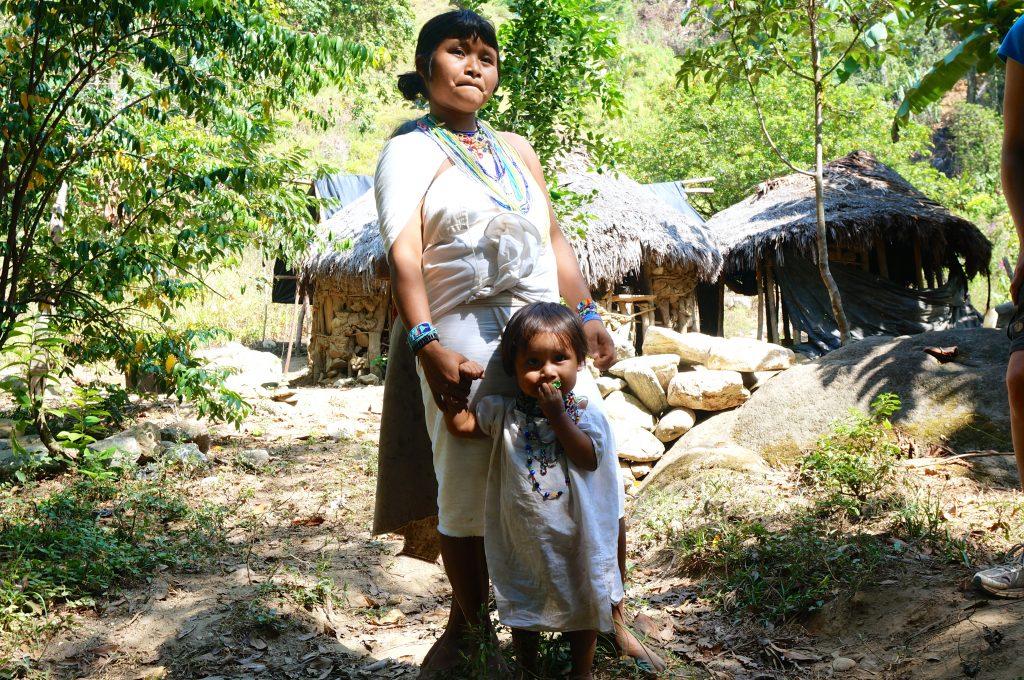 Wiwa child with mother on Ciudad Perdida trek