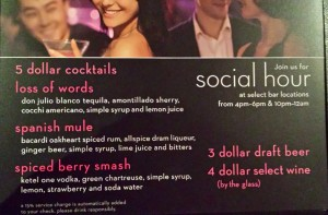 Celebrity Cruises Social Hour has 3 dollar draft beer, 4 dollar wine, and 5 dollar cocktails and can be a great way to get cheap drinks on a cruise ship