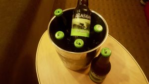 bucket of beer on a Holland America Alaska cruise
