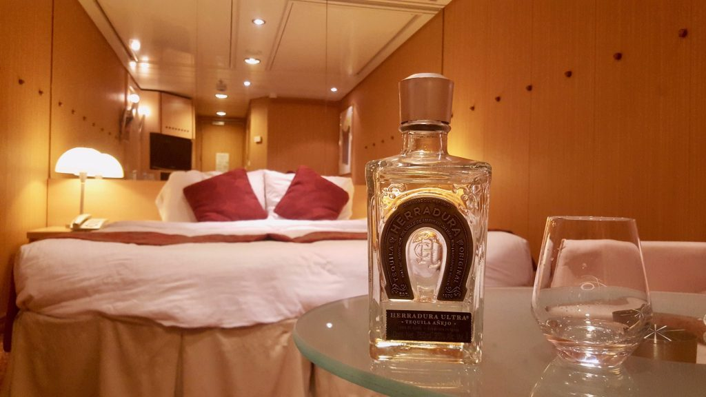 tequila bottle in cruise was set up as bottle service as a way to get cheap drinks on a cruise
