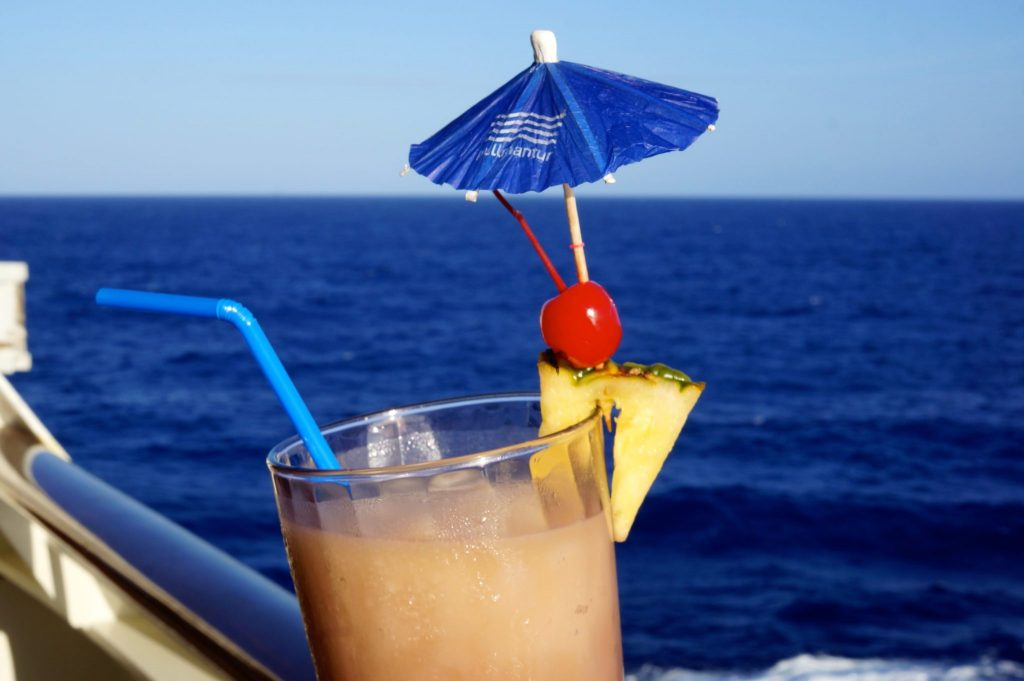 A Pina Colada on a cruise ship