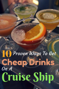 This guide offers several different ways how to get inexpensive drinks while on a cruise ship.
