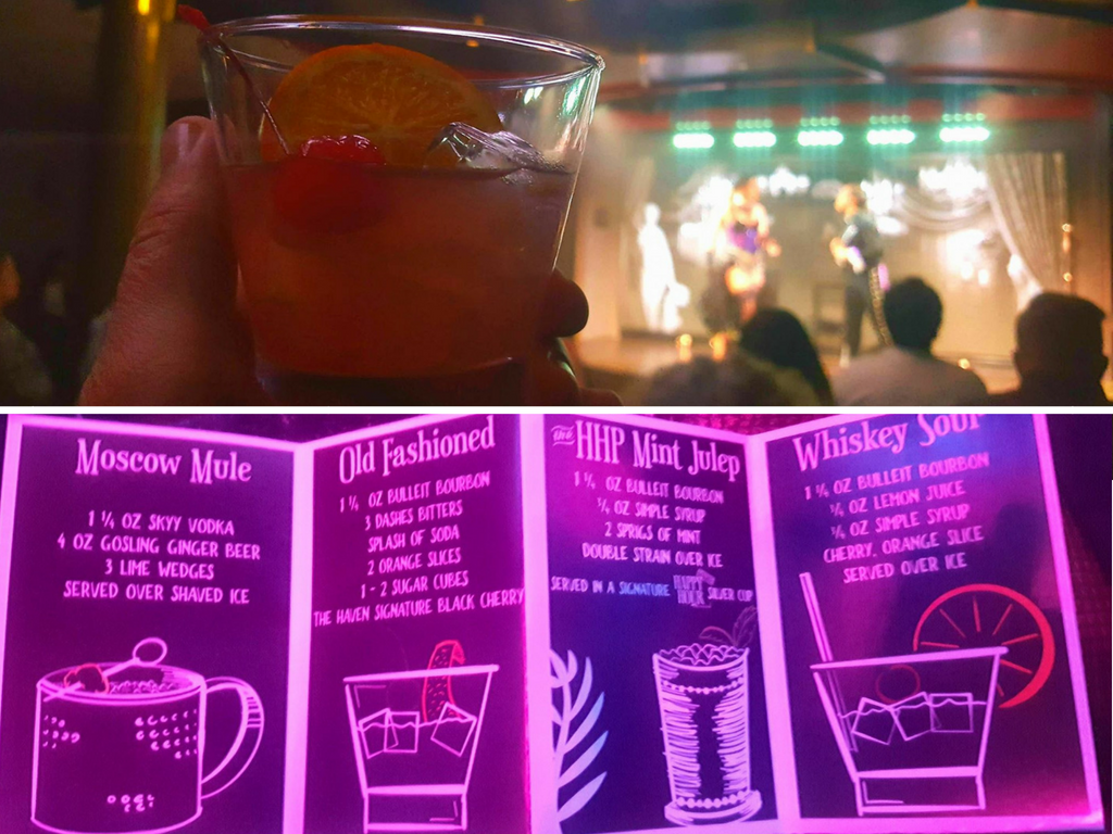Prohibition drink menu on Norwegian Bliss