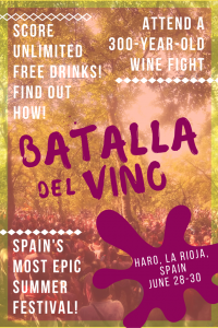 Every year on the morning of June 29 the Batalla del Vino (Wine Battle) takes place in the town of Haro, Spain. Also known as the Wine Fight or San Vino, this festival celebrating red wine is one hell of a party!