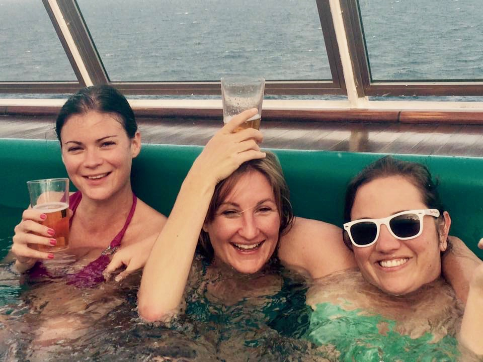 drinking in hot tub on Carnival cruise while on the Cheers drink package