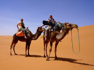 Sandstorm and Sandboarding: Our Camel Trek into the Sahara Desert (Erg Chebbi)