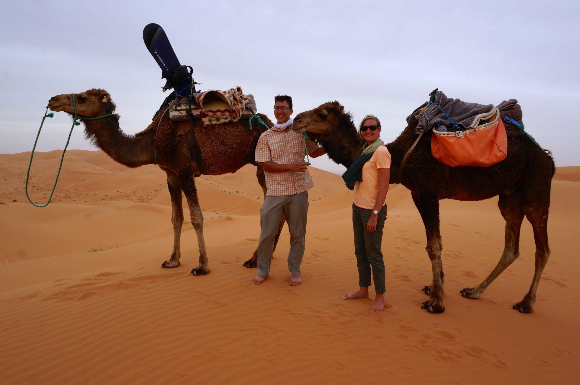sandstorm and sandboarding our camel trek into the sahara desert