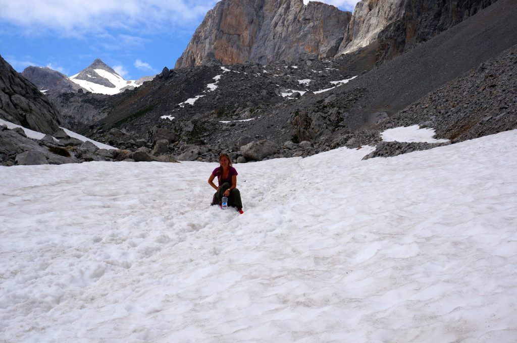 snow in June in Picos de Europa