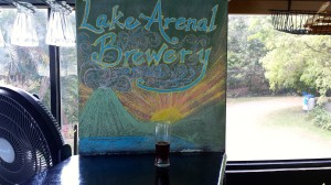 Lake Arenal Brewery sign
