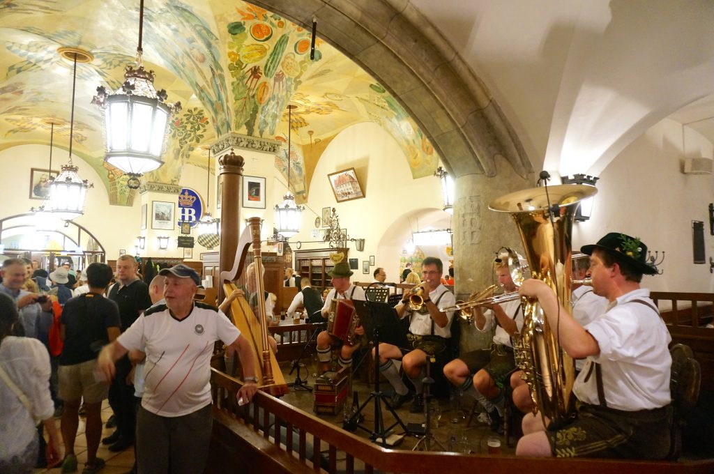 Oompah band at Hofbrauhaus