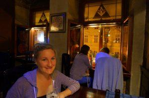 Dining at Masonic restaurant lviv
