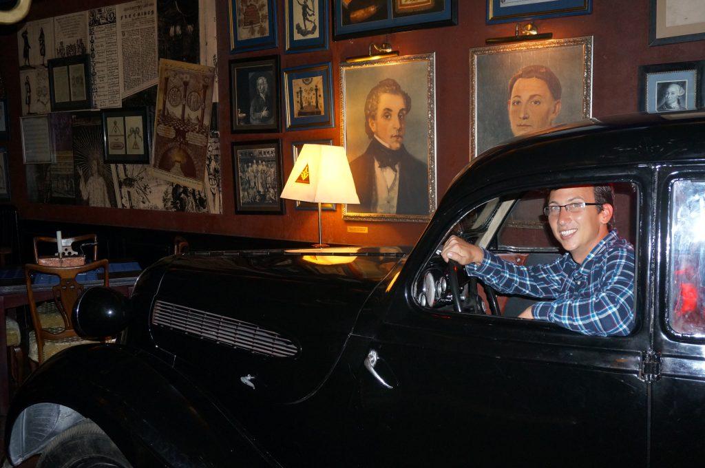 Car in Masonic Restaurant