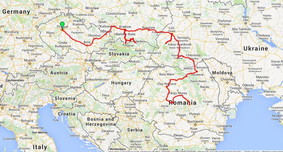 Month Update Roaming From Prague Czech Republic To Brasov Romania - Prague on world map