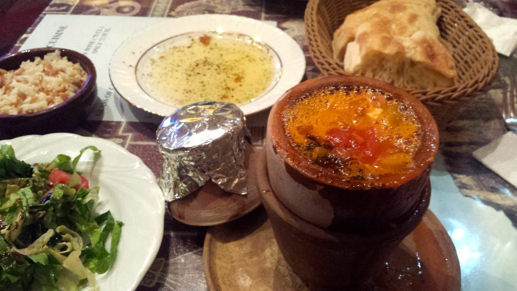 Turkish Pottery Kebap at Cappadocian Cuisine restaurant makes for a great dining recommendation for budget travel Cappadocia
