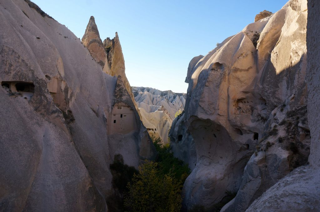 Hiking through the Rose/Red Valley is a great thing to do in Cappadocia on a Budget