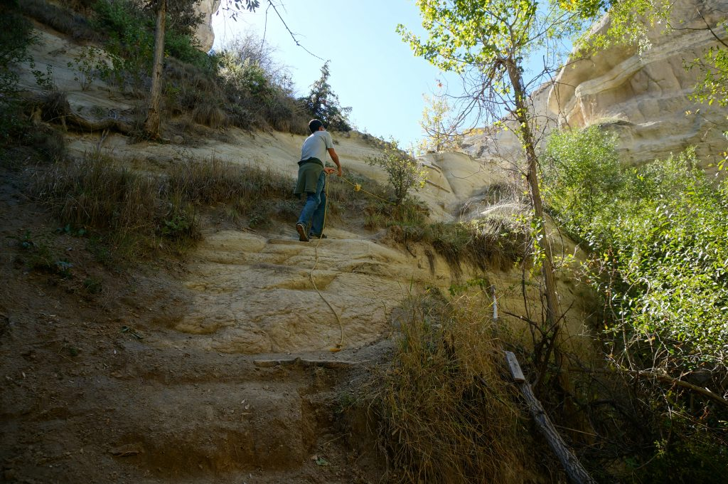 climbing ropes on this trail is free making it a good budget travel Cappadocia adventure