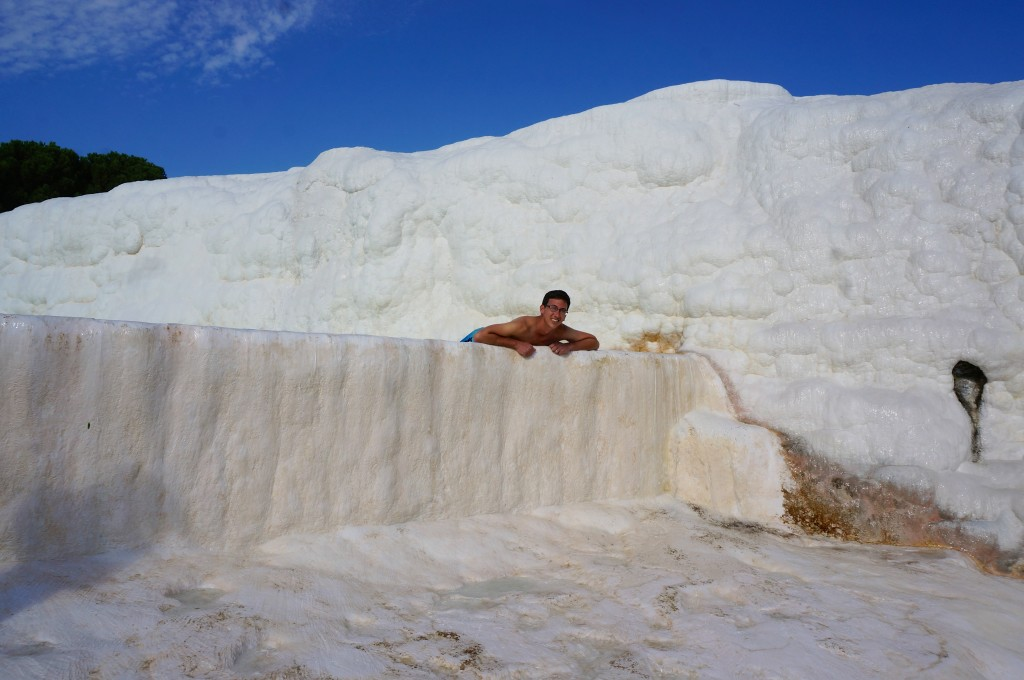 swimming in Pamukkale