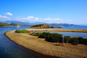 Flat island near Fethiye