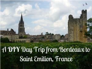 Saint Emilion behind vineyards