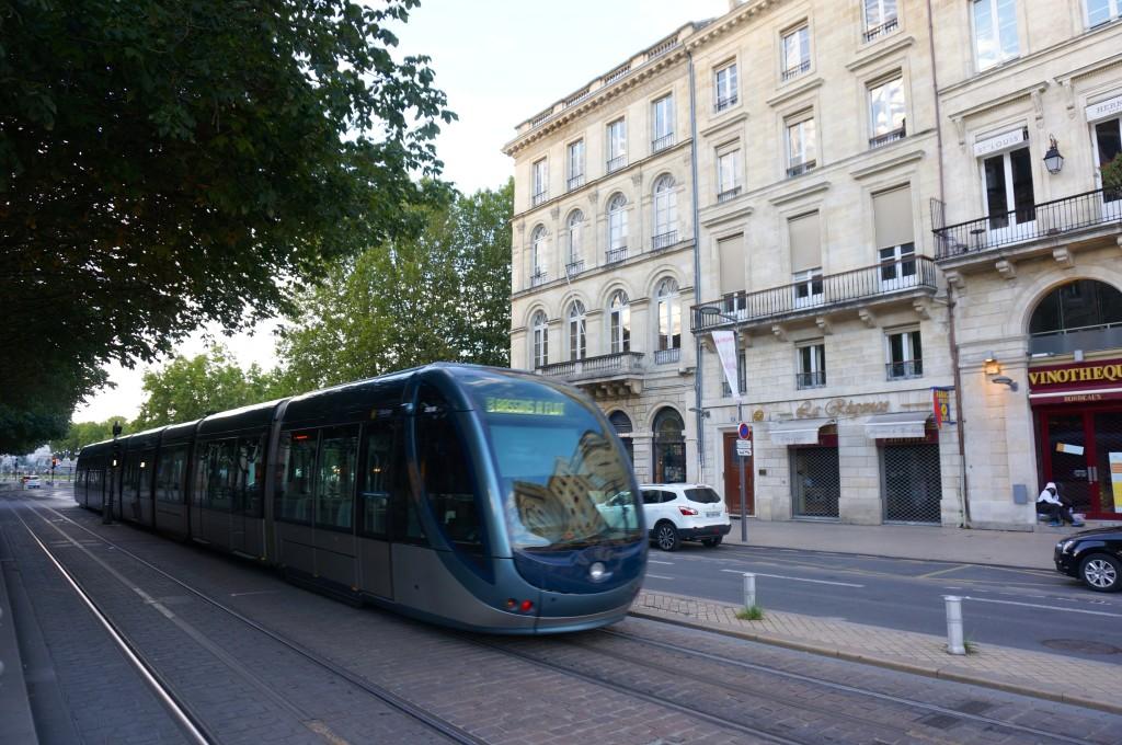 Bordeaux futuristic tram