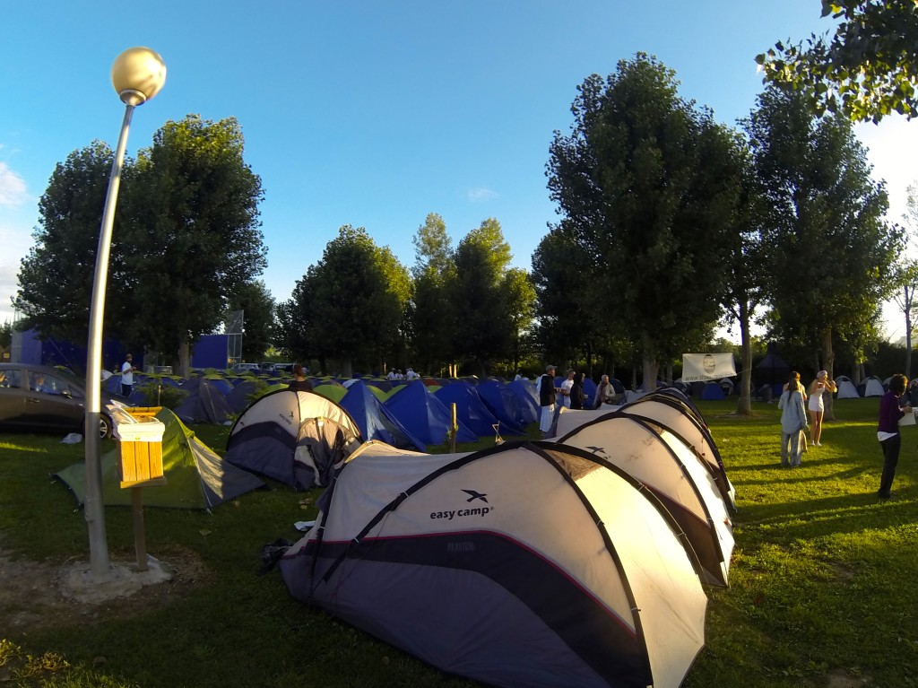 Camping tents at Wine Battle
