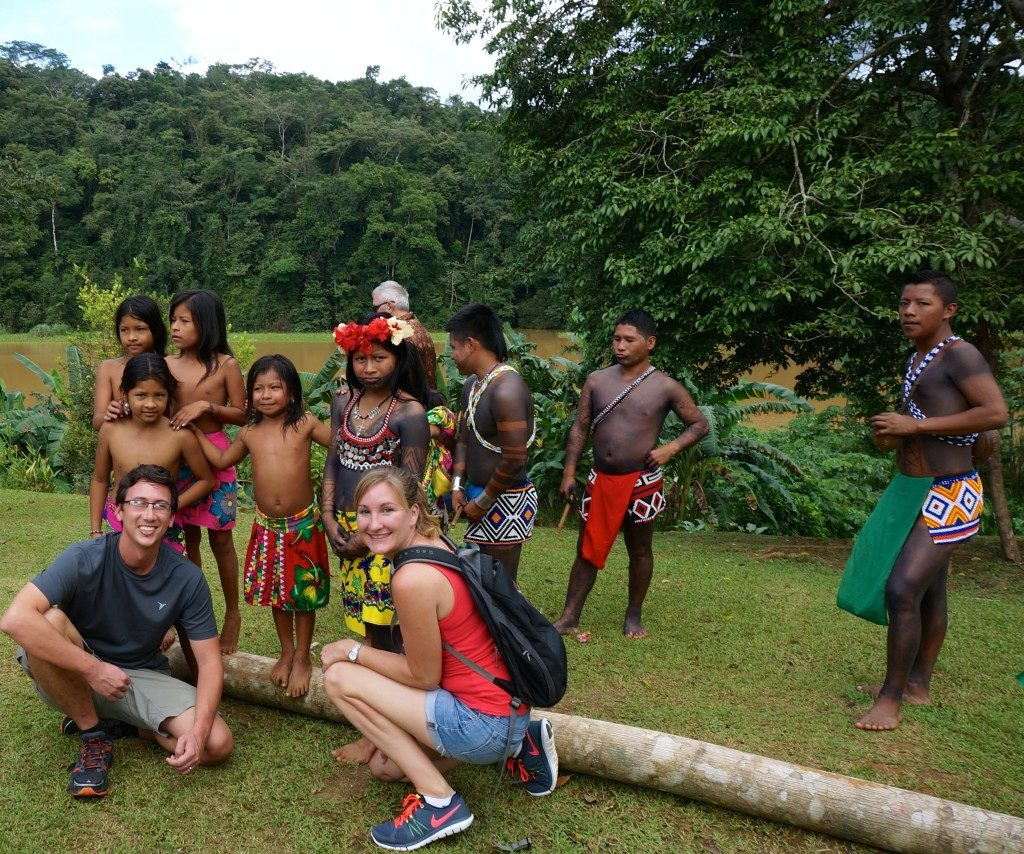 Visitting the Emberra tribe in Panama