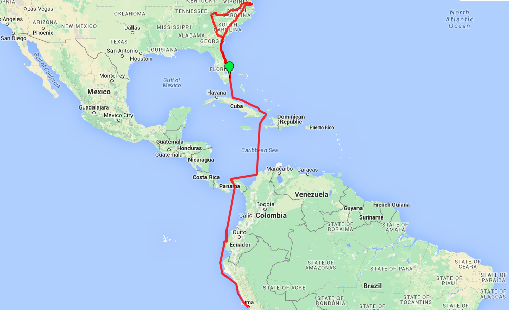 Caribbean Sea South America Map.Travel Update Roaming Around Southern Us To South America