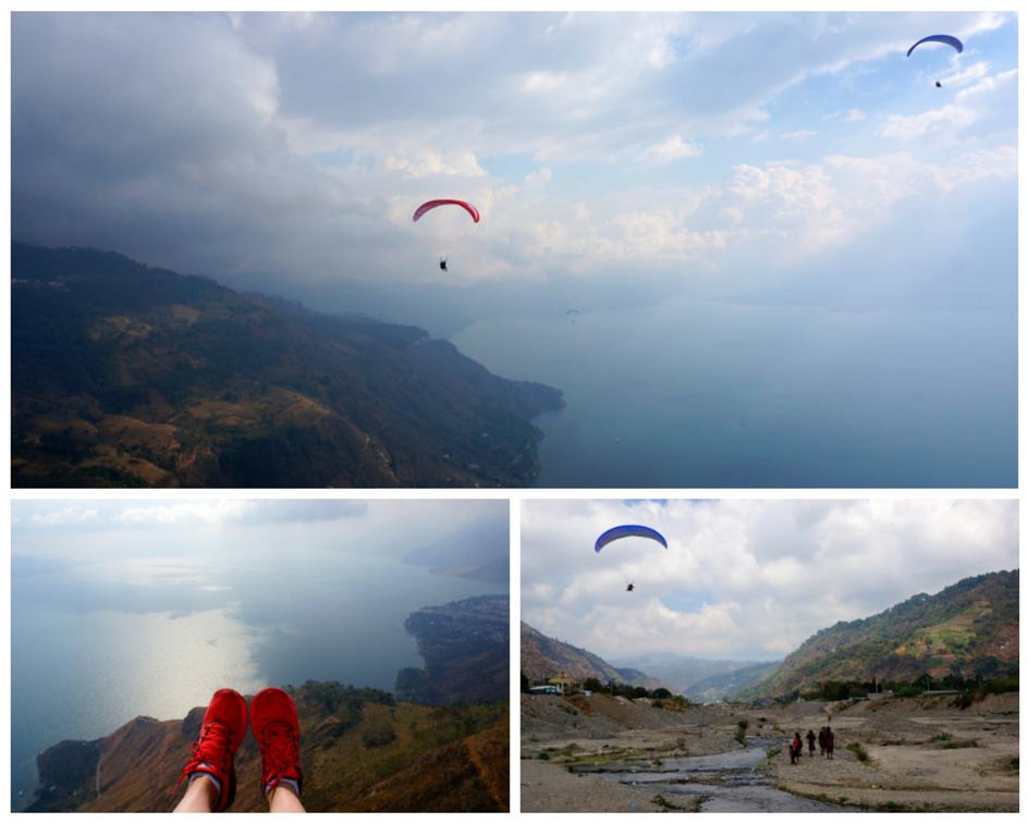 Paragliding over Lago Atitlan
