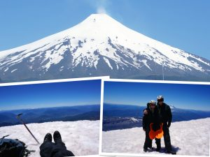Summiting the villarica volcano