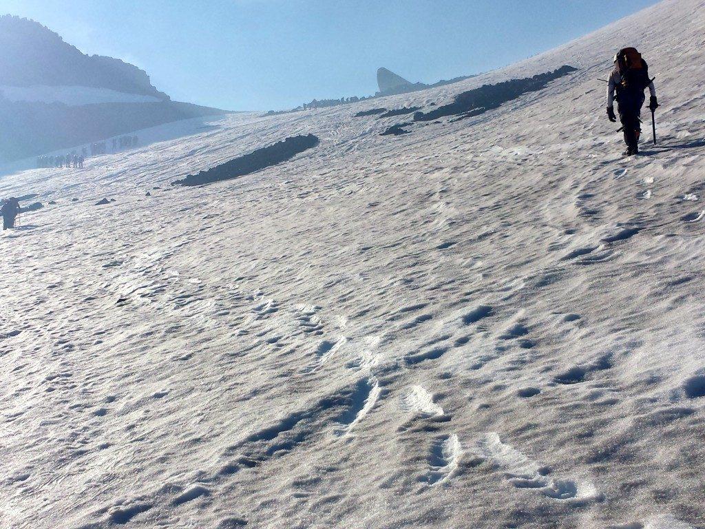hiking up Volcan Villarrica