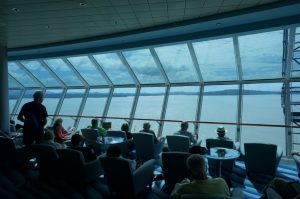 Celebrity Infinity bar while transiting the panama canal